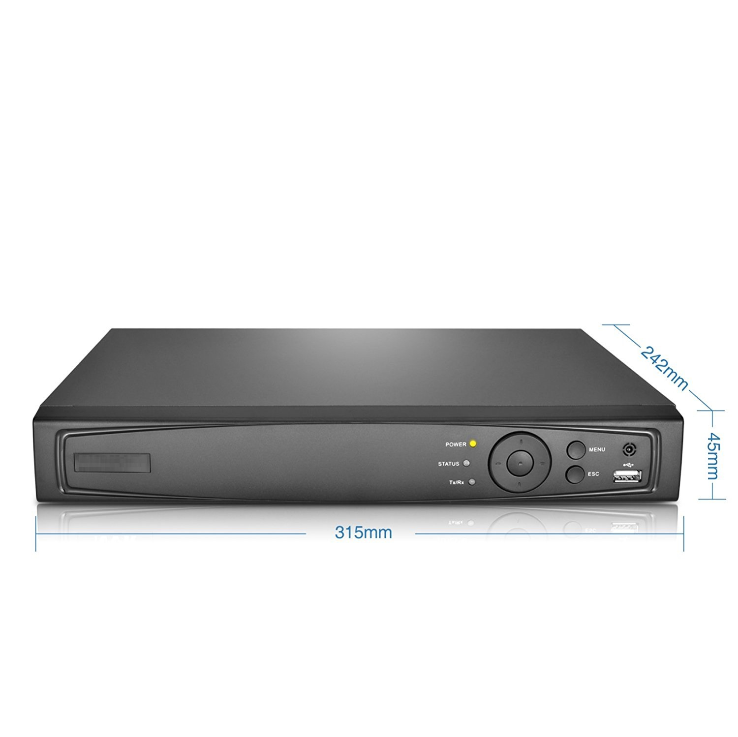 4 Channel 1080P H.265+ 1U 1HDD Bay TVI 4.0 XDVR