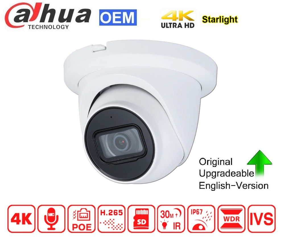 DAHUA POE 8MP WDR Starlight Fixed Turret Network Camera 2.8mm