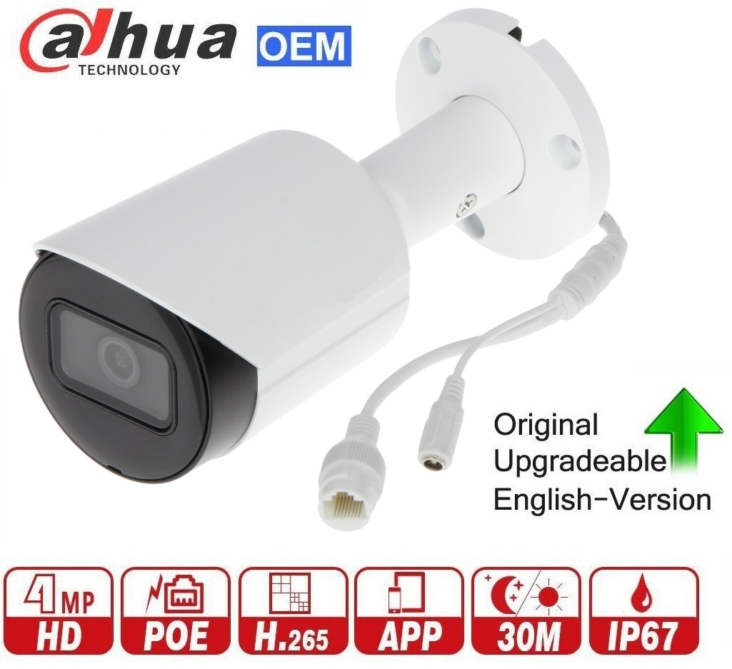 4MP 120dB WDR H265 IR Bullet Network Camera SD Card slot