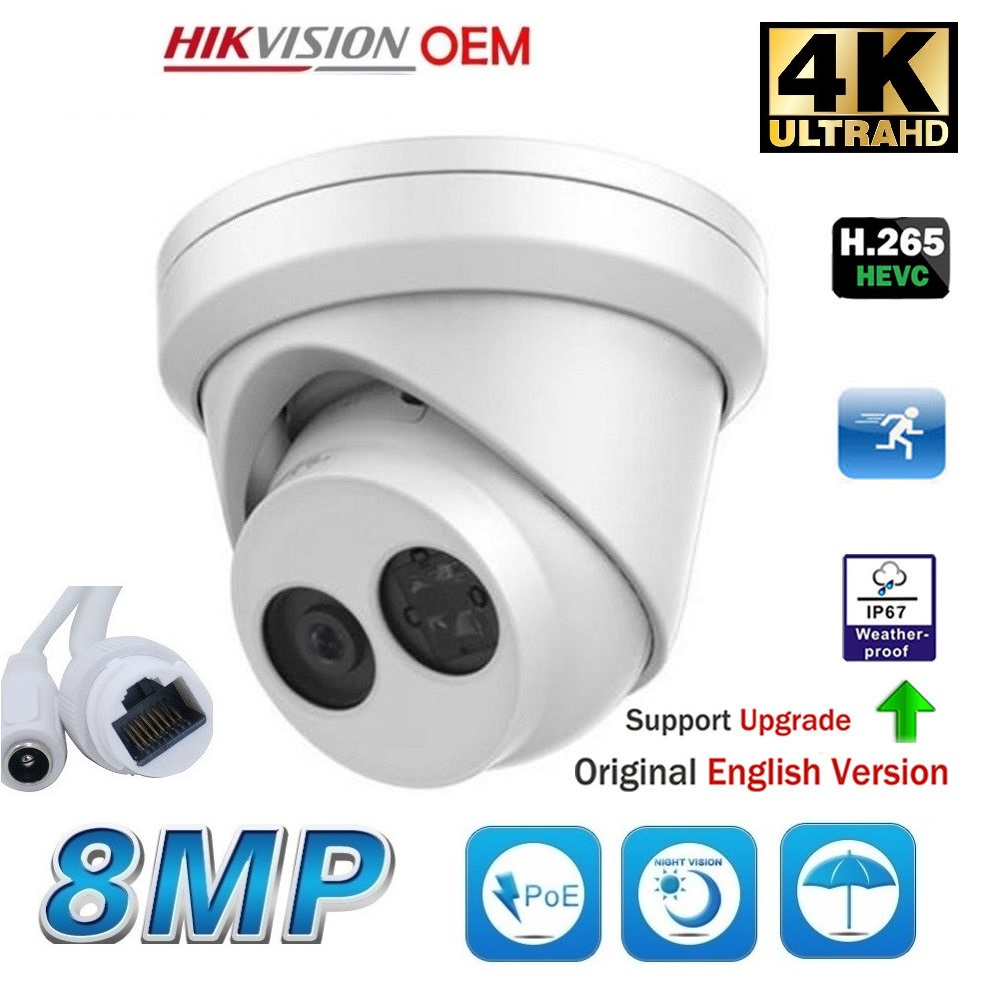 8MP POE EXIR Turret Outdoor IP 2.8MM LENS, SD Card Slot, ONVIF