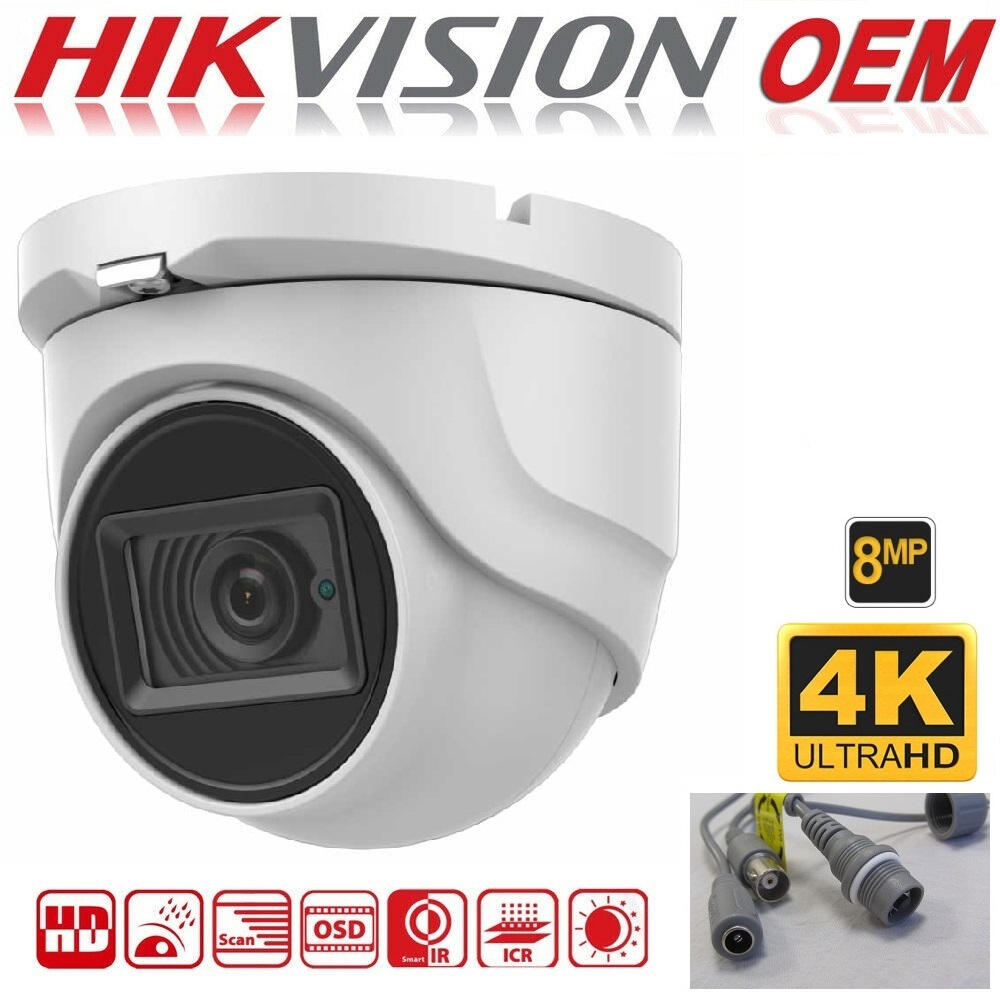 8MP Hikvision OEM Dome DS-2CE76U1T-ITMF, Turbo HD 2.8mm IR 30m