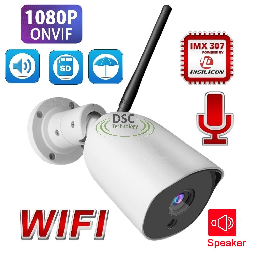 Full Metal Two Way Audio WI-FI 1080P in/outdoor Bullet Camera