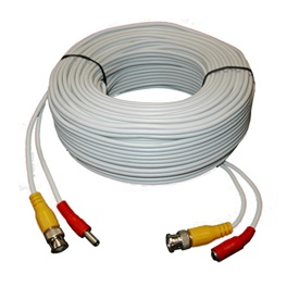 100FT White Premade Siamese Cable