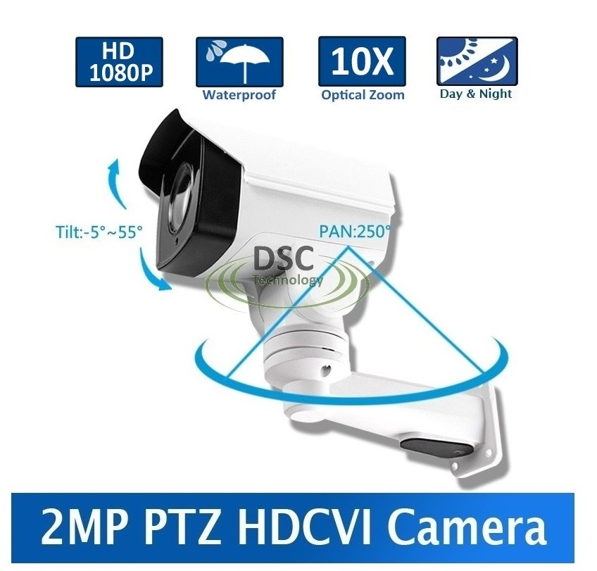 2MP 10X Optical Zoom Auto Iris Bullet PTZ HDCVI Camera