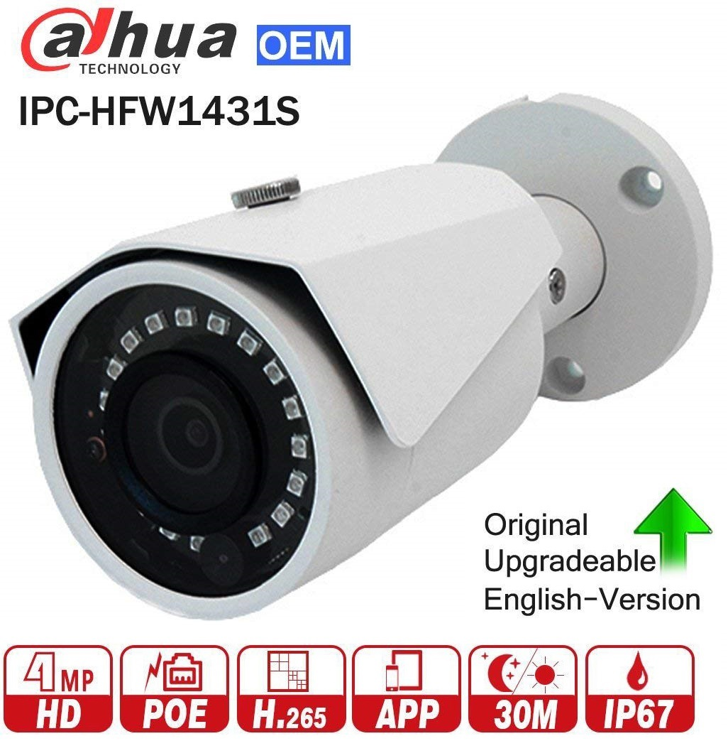 IPC-HFW1431S, 4MP1080P HD Network Water-proof IR Mini IP Bullet