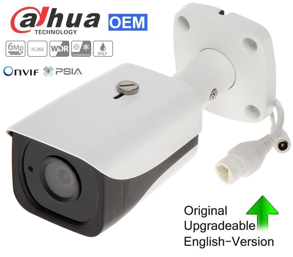 Dahua PoE 6MP WDR Mini Network Bullet IP CCTV Camera 2.8mm