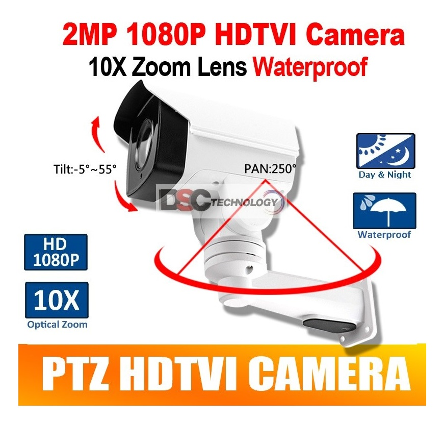 2MP 10X Optical Zoom Auto Iris Bullet PTZ HDTVI Camera