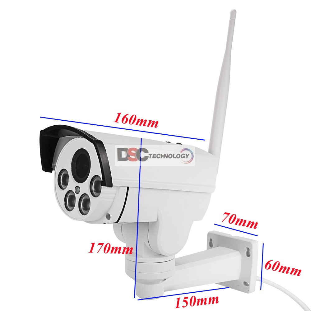 WiFi 1080P Outdoor Bullet PTZ IP Camera,Card Slot 2.0MP 5X Zoom